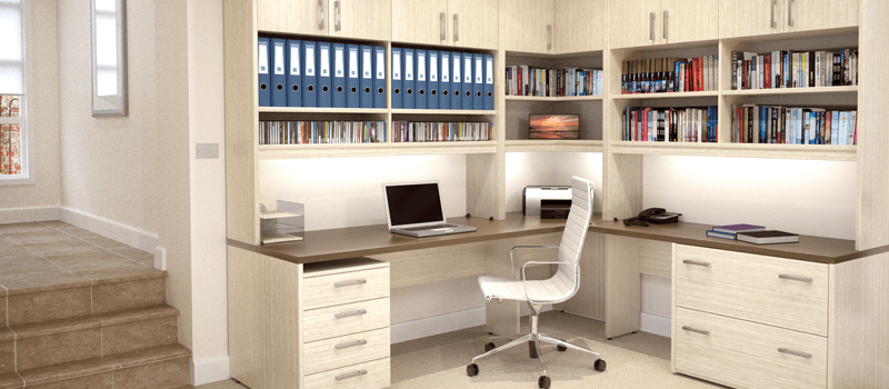 Home office furniture stylish office desks bookcases chairs Home study furniture design